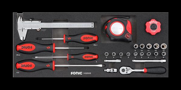 Sonic Equipment Kombinationssatz für Aufsatzbox 4730414, 25-tlg. 102502