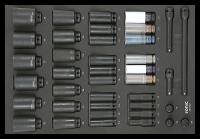 Sonic Equipment SFS 1/2 Schlagschraub-Nuss-Satz, 6-kant...