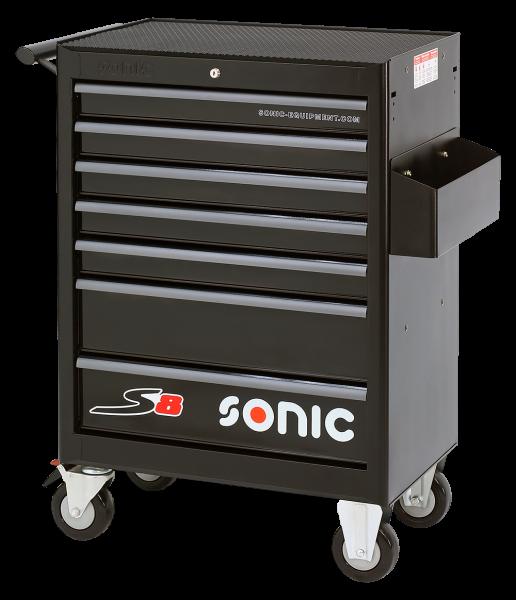 Sonic Equipment Werkstattwagen leer, S8, 7 Schubladen , schwarz 4730167