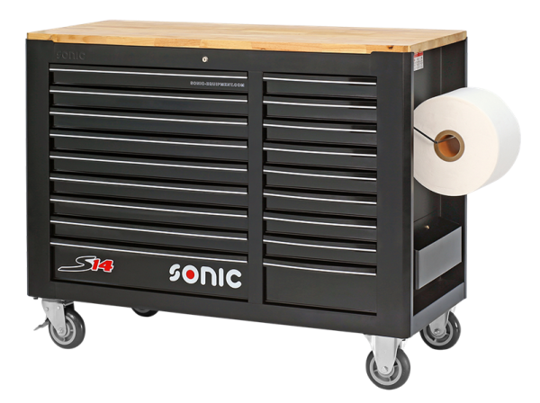 Sonic Equipment Werkstattwagen leer, S14, schwarz 47307118