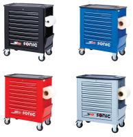 Sonic Equipment Werkstattwagen leer, S10, schwarz 4730918