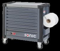Sonic Equipment Werkstattwagen leer, S12, dunkelgrau...