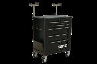 Sonic Equipment Werkstattwagen leer, für Glas, 5 Schubladen, schwarz 4733115