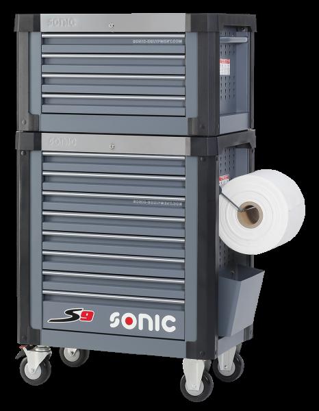 Sonic Equipment Werkstattwagen 4733210 + Aufsatzbox 4730224, S9, dunkelgrau