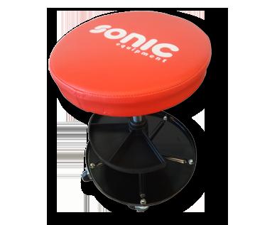 Sonic Equipment Werkstatthocker, höhenverstellbar und mit 5 Rädern 48126