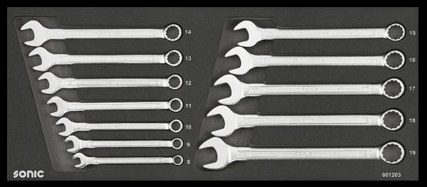 Sonic Equipment Schraubenschlüsselsatz für Aufsatzbox 4730414, 12-tlg. 601203