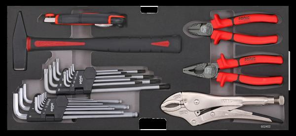 Sonic Equipment Hammer, Zangen, Innensechskant-Satz für Aufsatzbox 4730414 602403