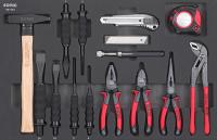 Sonic Equipment Werkstattwagen S7 gefüllt, 140-tlg., schwarz 714040