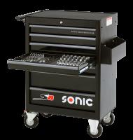 Sonic Equipment Werkstattwagen S8 gefüllt, 149-tlg.,...