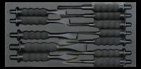Sonic Equipment Werkstattwagen S7 gefüllt, 149-tlg., schwarz 714940