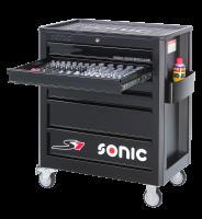 Sonic Equipment Werkstattwagen S7 gefüllt, 158-tlg.,...