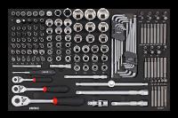 Sonic Equipment Werkstattwagen S7 gefüllt, 206-tlg., schwarz 720640