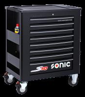 Sonic Equipment Werkstattwagen S10 gefüllt, 251-tlg., Schaum 1/3, schwarz 725109