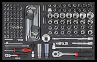 Sonic Equipment Werkstattwagen S10 gefüllt, 274-tlg., schwarz 727409