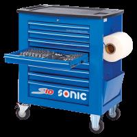 Sonic Equipment Werkstattwagen S10 Blau gefüllt,...