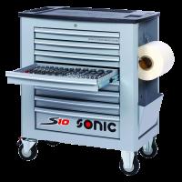Sonic Equipment Werkstattwagen S10 Grau gefüllt,...