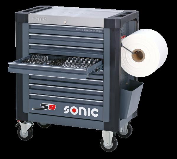 Sonic Equipment Werkstattwagen S9 gefüllt, 285-tlg., dunkelgrau 728531