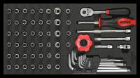 Sonic Equipment Werkstattwagen S10 gefüllt, 339-tlg., Schaum 1/3, schwarz 733809