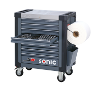 Sonic Equipment Werkstattwagen S9 gefüllt, 339-tlg., dunkelgrau 733931