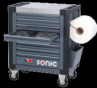 Sonic Equipment Werkstattwagen S9 gefüllt, 369-tlg.,...