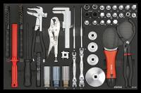 Sonic Equipment Werkstattwagen S9 gefüllt, 378-tlg., dunkelgrau 737731