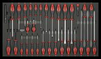 Sonic Equipment Werkstattwagen S12 gefüllt, 400-tlg., dunkelgrau 740029