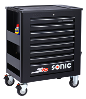 Sonic Equipment Werkstattwagen S10 gefüllt, 420-tlg., schwarz 742009