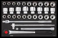 Sonic Equipment Werkstattwagen S10 gefüllt, 460-tlg., schwarz 746009
