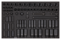 Sonic Equipment Filled toolbox S10 460pcs (black) Heavy Duty 746019