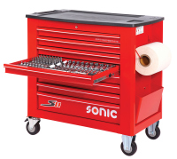 Sonic Equipment Filled toolbox S11 red 469pcs SFS 746917