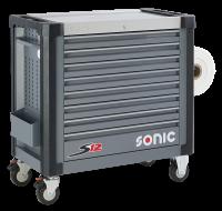 Sonic Equipment Werkstattwagen S12 gefüllt, 469-tlg., dunkelgrau 746929