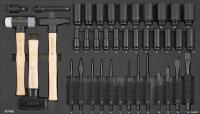 Sonic Equipment Werkstattwagen S11 gefüllt, 485-tlg., schwarz