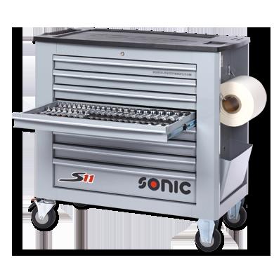 Sonic Equipment Werkstattwagen S11 gefüllt, 485-tlg., grau 748520