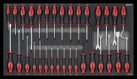 Sonic Equipment Werkstattwagen S12 gefüllt, 533-tlg., dunkelgrau 753329