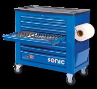 Sonic Equipment Werkstattwagen S11 gefüllt 575-tlg.,...