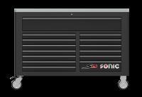 Sonic Equipment Werkstattwagen S15 gefüllt, 575-tlg., schwarz 757544