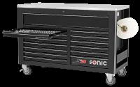Sonic Equipment Werkstattwagen S15 gefüllt, 600-tlg., schwarz 760544