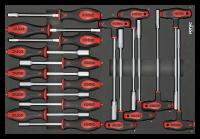 Sonic Equipment Werkstattwagen S15 gefüllt, 714-tlg., dunkelgrau 771444